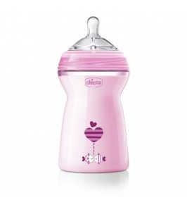 CHICCO BIBERON NATFEEL 6M+ GIRL 330 ML