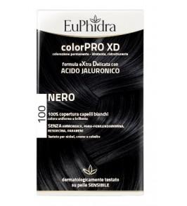 EUPHIDRA COLORPRO XD 100 NERO GEL COLORANTE CAPELLI IN FLACO NE + ATTIVANTE + BALSAMO + GUANTI