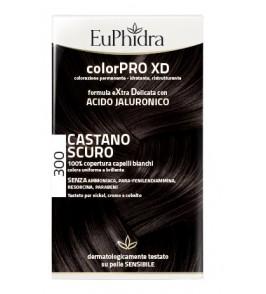 EUPHIDRA COLORPRO XD 300 CASTANO SCURO GEL COLORANTE CAPELLI IN FLACONE + ATTIVANTE + BALSAMO + GUANTI