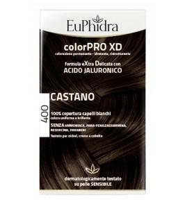 EUPHIDRA COLORPRO XD 400 CASTANO GEL COLORANTE CAPELLI IN FL ACONE + ATTIVANTE + BALSAMO + GUANTI