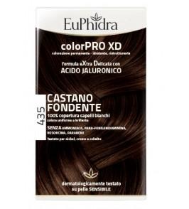 EUPHIDRA COLORPRO XD 435 CASTANO FONDENTE GEL COLORANTE CAPE LLI IN FLACONE + ATTIVANTE + BALSAMO + GUANTI