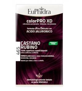 EUPHIDRA COLORPRO XD 465 CAST RUBINO GEL COLORANTE CAPELLI I N FLACONE + ATTIVANTE + BALSAMO + GUANTI