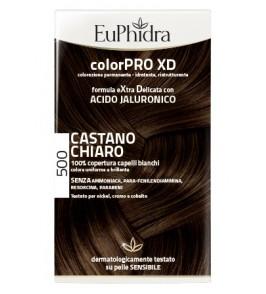 EUPHIDRA COLORPRO XD 500 CAST CHIARO GEL COLORANTE CAPELLI I N FLACONE + ATTIVANTE + BALSAMO + GUANTI
