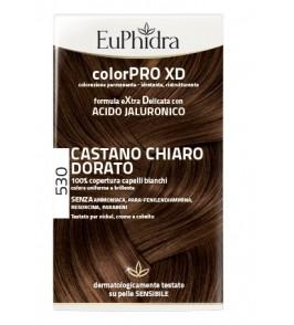 EUPHIDRA COLORPRO XD 530 CASTANO CHIARO DORATO GEL COLORANTE CAPELLI IN FLACONE + ATTIVANTE + BALSAMO + GUANTI
