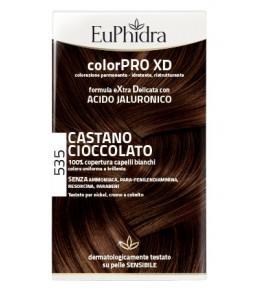 EUPHIDRA COLORPRO XD 535 CASTANO CIOCCOLATO GEL COLORANTE CA PELLI IN FLACONE + ATTIVANTE + BALSAMO + GUANTI
