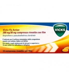VICKS FLU ACTION*12 cpr riv 200 mg + 30 mg