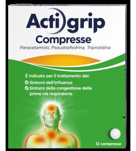 ACTIGRIP*12 cpr 60 mg + 2,5 mg + 500 mg